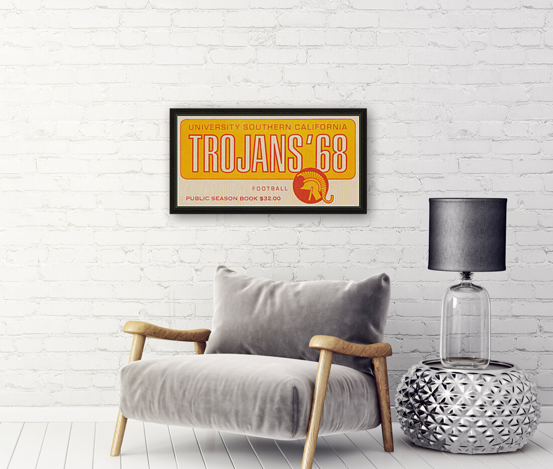 1968 USC Trojans Season Ticket  Art