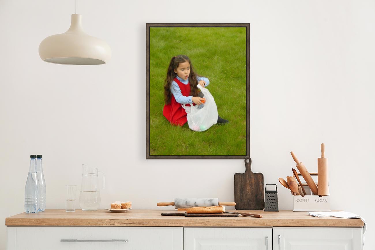 Easter Egg Hunt Girl  Art