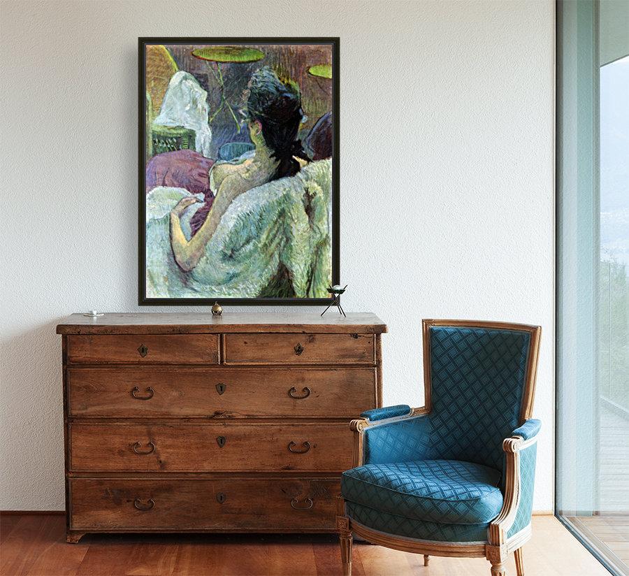 Resting Model by Toulouse-Lautrec  Art