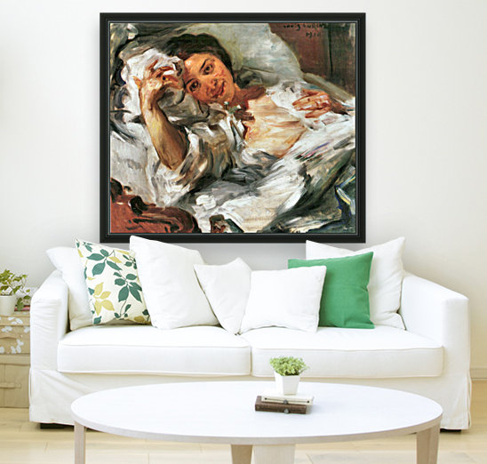 Morning Sun by Lovis Corinth with Floating Frame