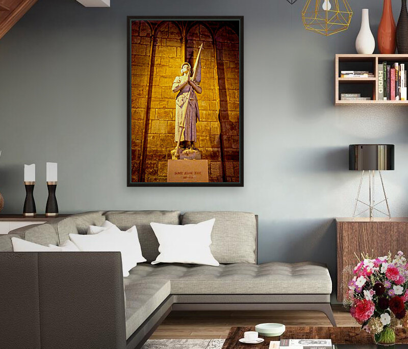 Jeanne d Arc and Saint Croix Cathedral at Orleans   France 4 of 7  Art