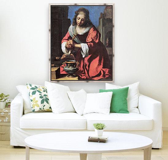 Saint Praxedis by Vermeer  Art