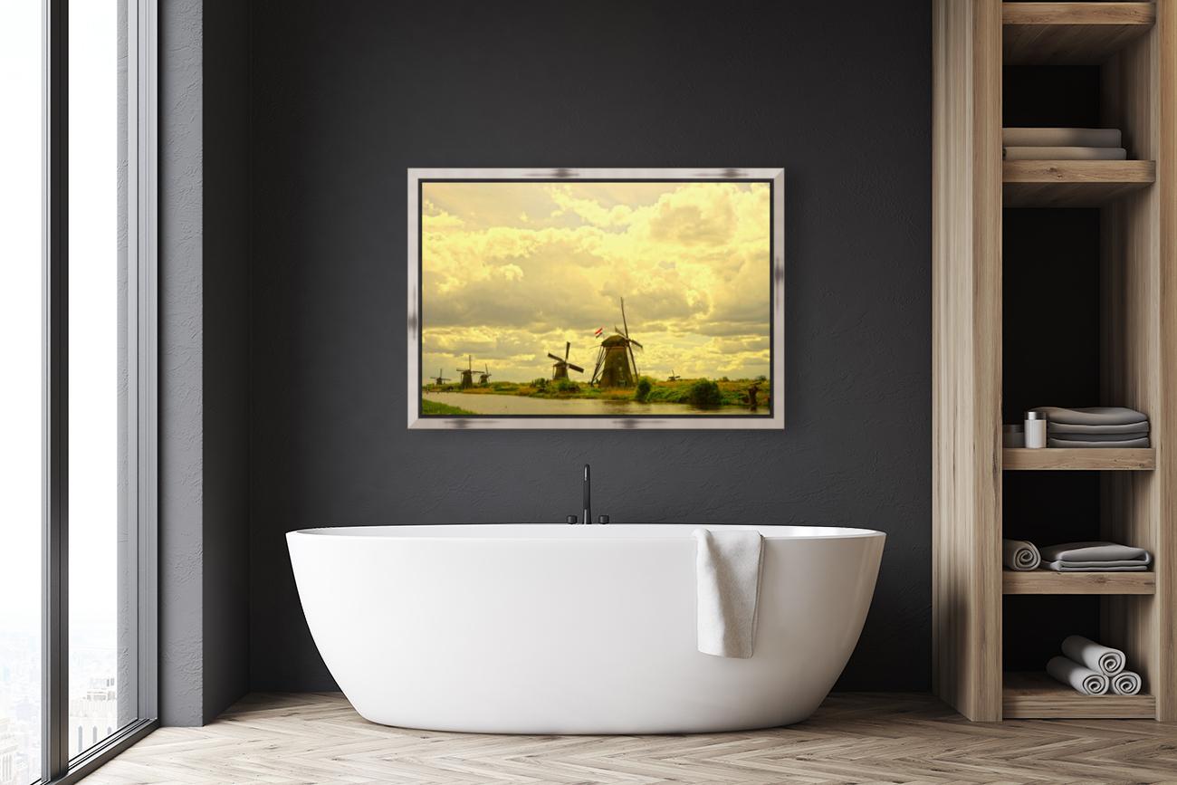 Windmills at Sunset - Netherlands  Art