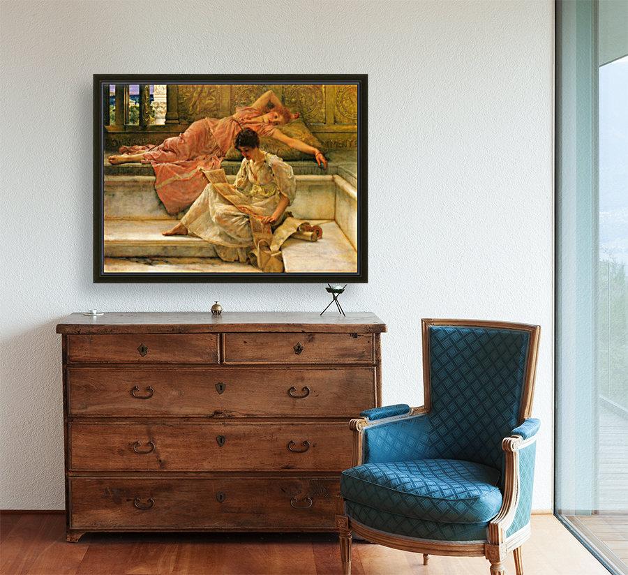 A favorite poet by Alma-Tadema  Art