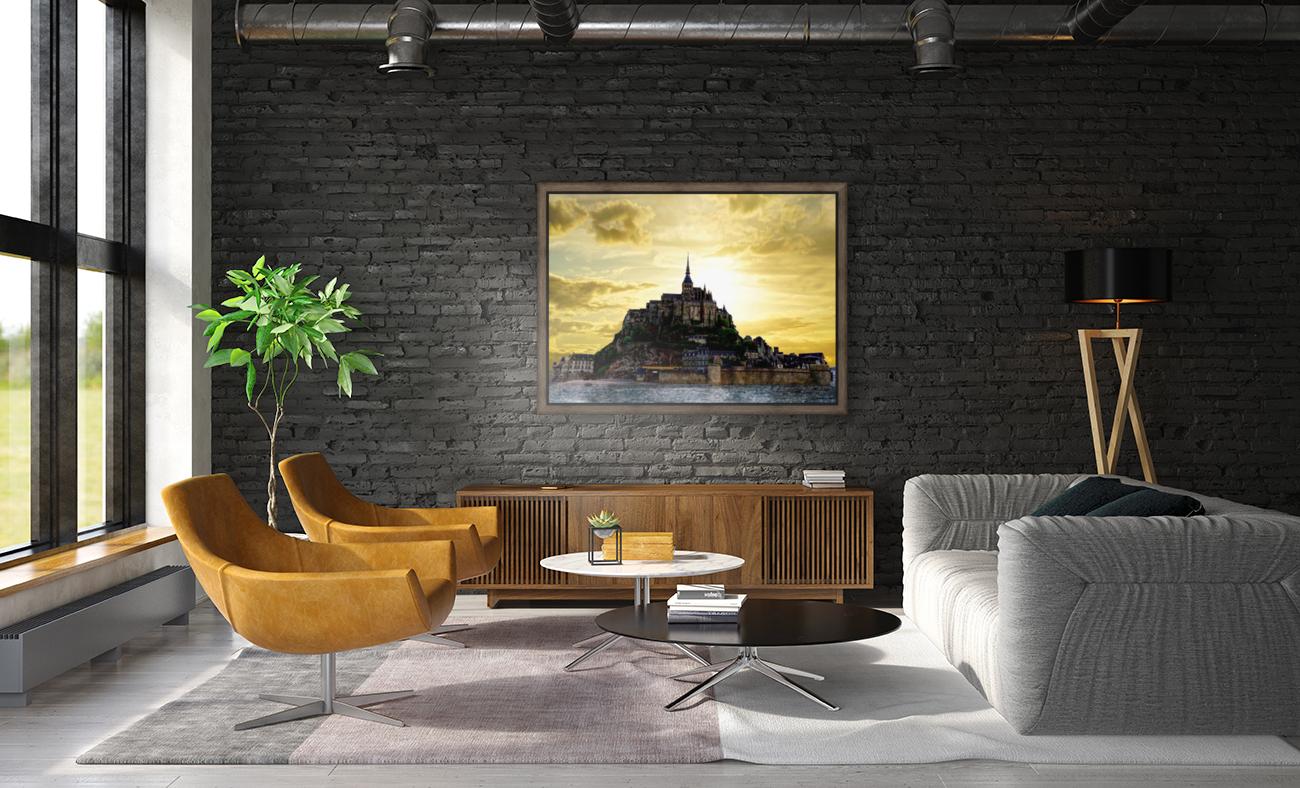 Golden Mont St Michel - Normandy France  Art