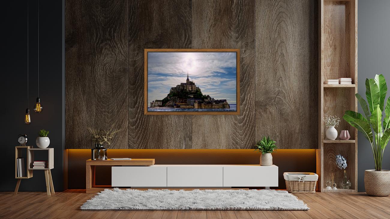 Mount Saint Michael The Fires of Heaven - Normandy France  Art