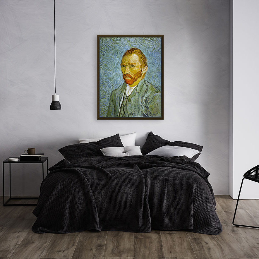 Self Portrait by Van Gogh with Floating Frame