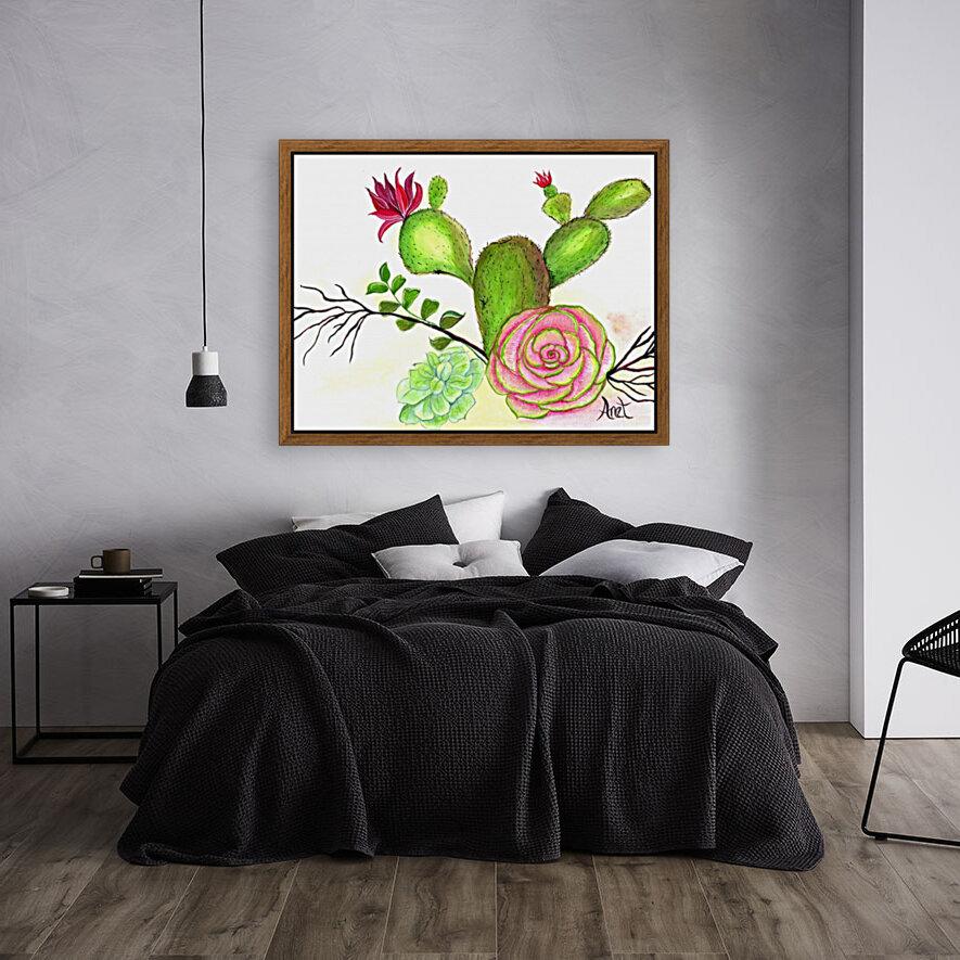 Flowering Cactus   Art