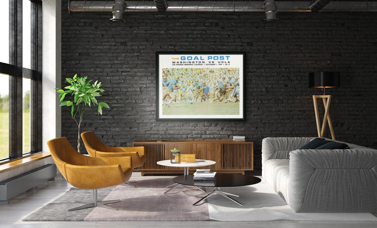 1969 UCLA vs. Washington Football Program Cover Art  Art