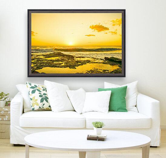 Golden Moment - Sunset Hawaiian Islands  Art