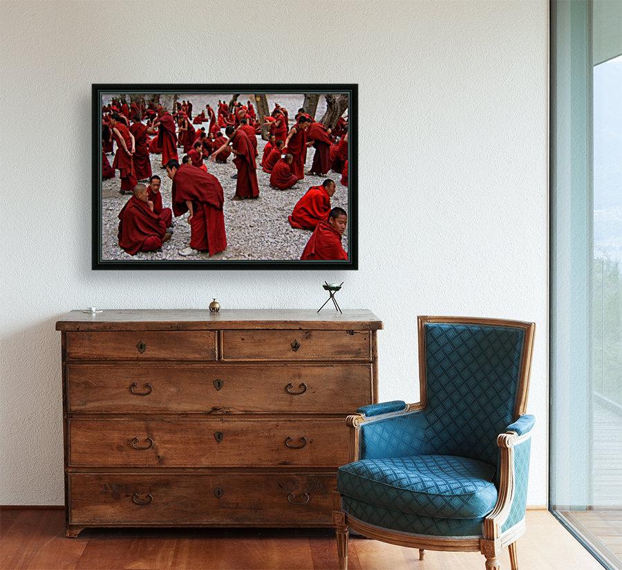 Monks debating  Art