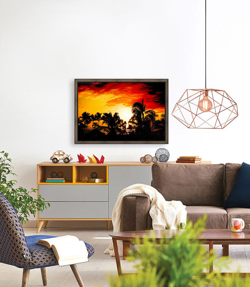 Fire in the Heavens - Sunset Hawaiian Islands  Art