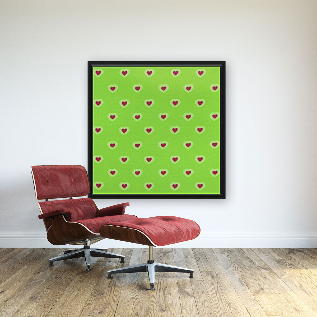 Hearts - Lime - Red  Art