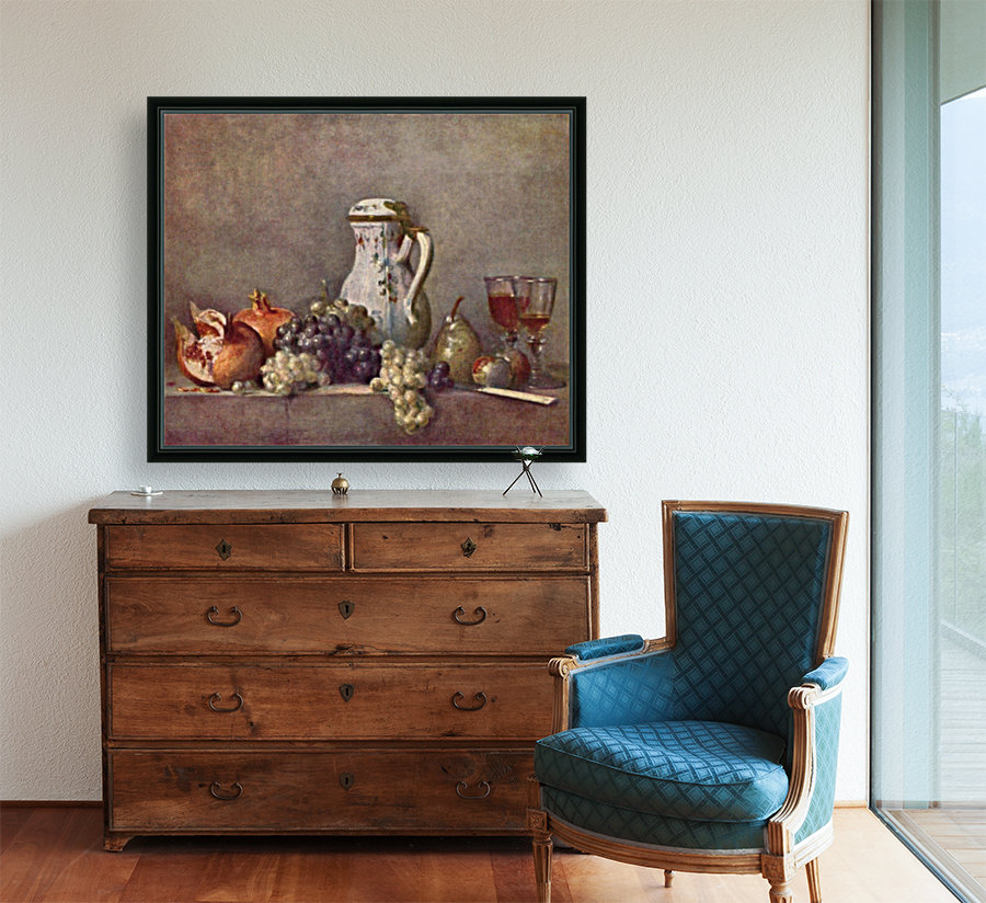 Still life with porcelain jug by Jean Chardin  Art