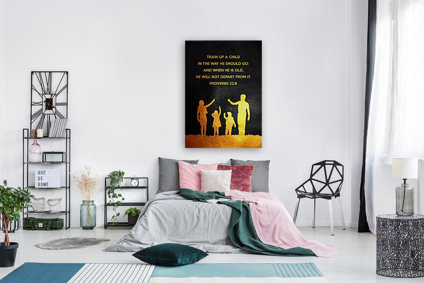 Proverbs 22:6 Bible Verse Wall Art  Art