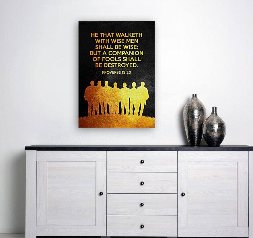 Proverbs 13:20 Bible Verse Wall Art  Art