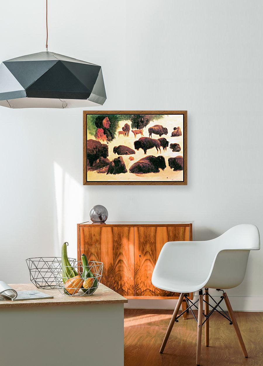 Study of Buffaloes by Bierstadt  Art