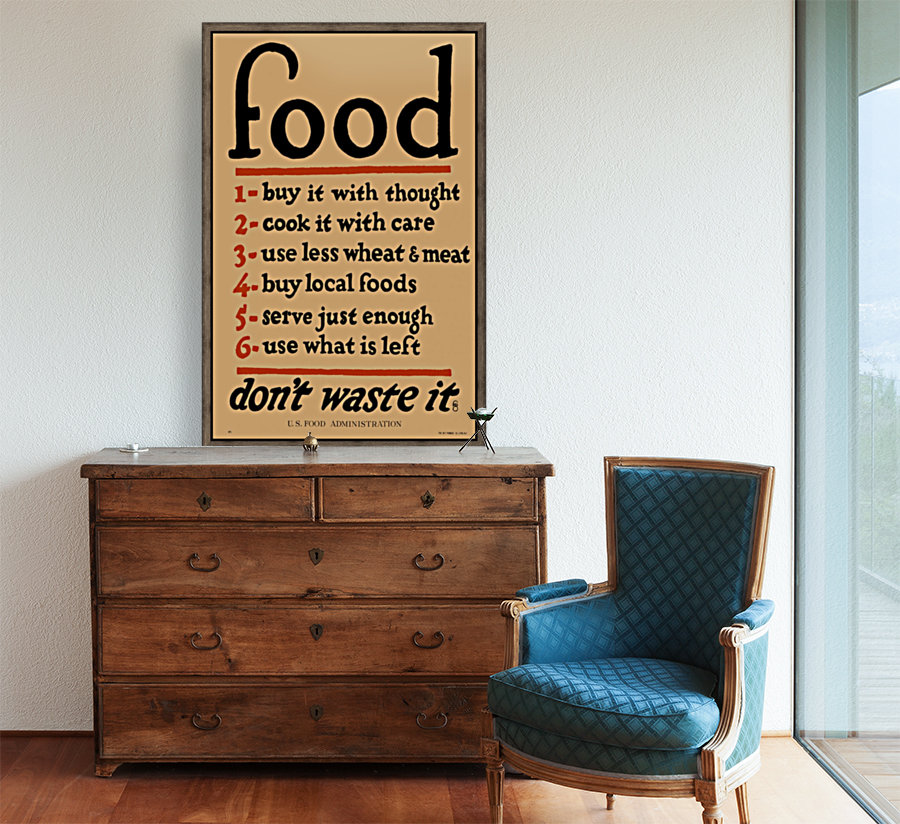 Food Poster with Floating Frame