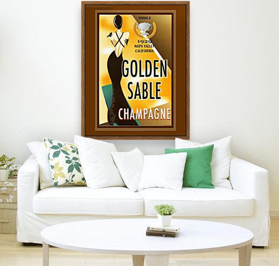 Golden Stable Champagne  Art