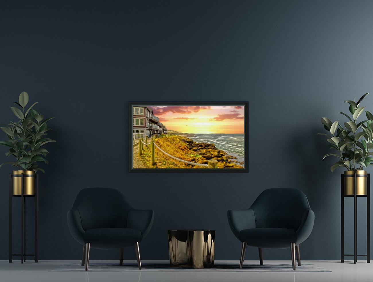 Depoe Bay On the Oregon Coast - Art Style  Art