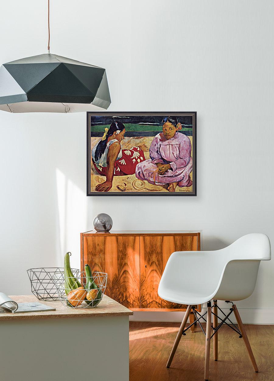 Tahitian Women on Beach by Gauguin  Art
