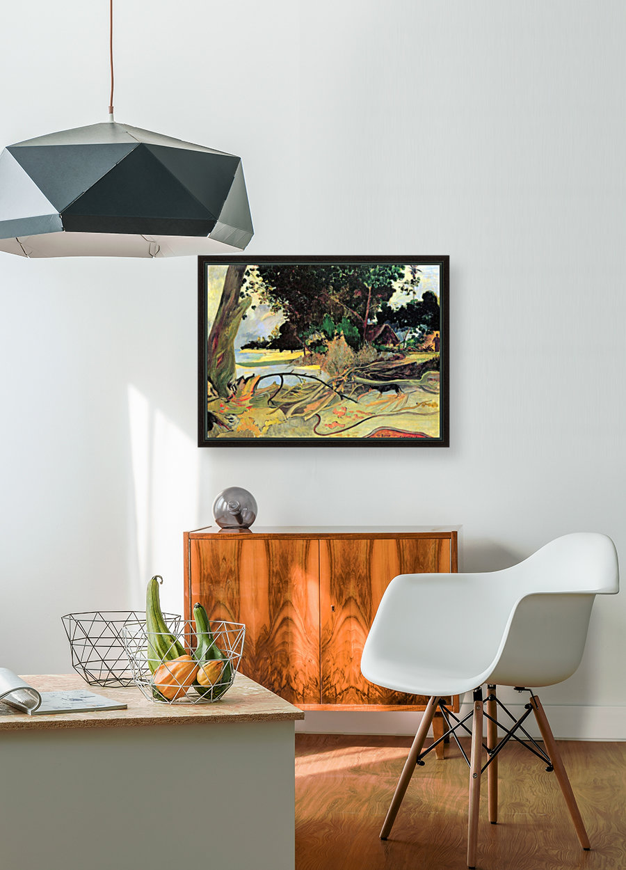 Te Burao by Gauguin with Floating Frame