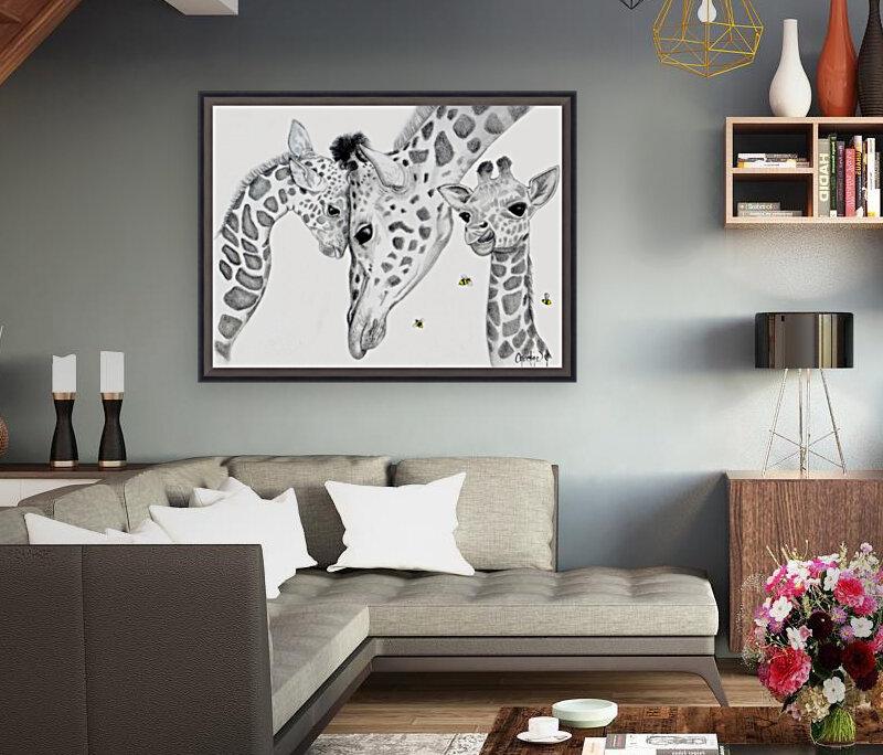 Giraffe Family   Art