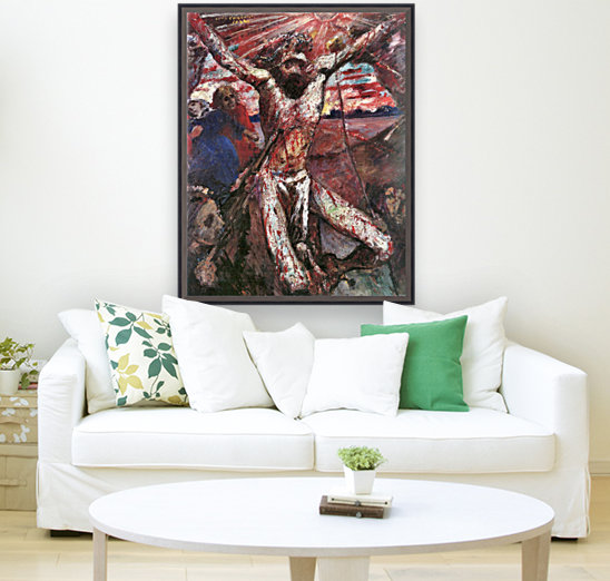 Red Christ by Lovis Corinth with Floating Frame