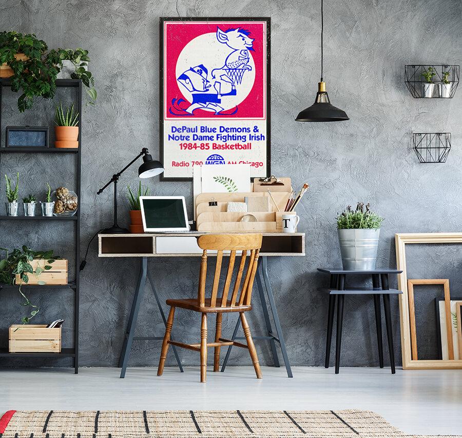 1984 DePaul Notre Dame Basketball WGN Poster  Art