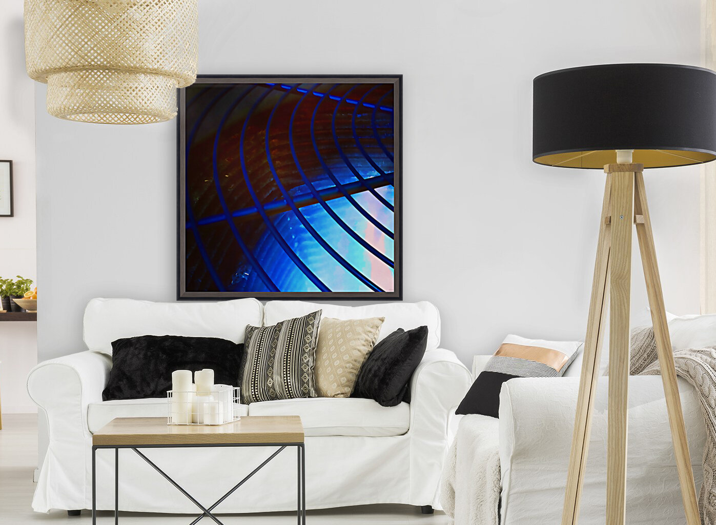 abstract blue curved lines  Art