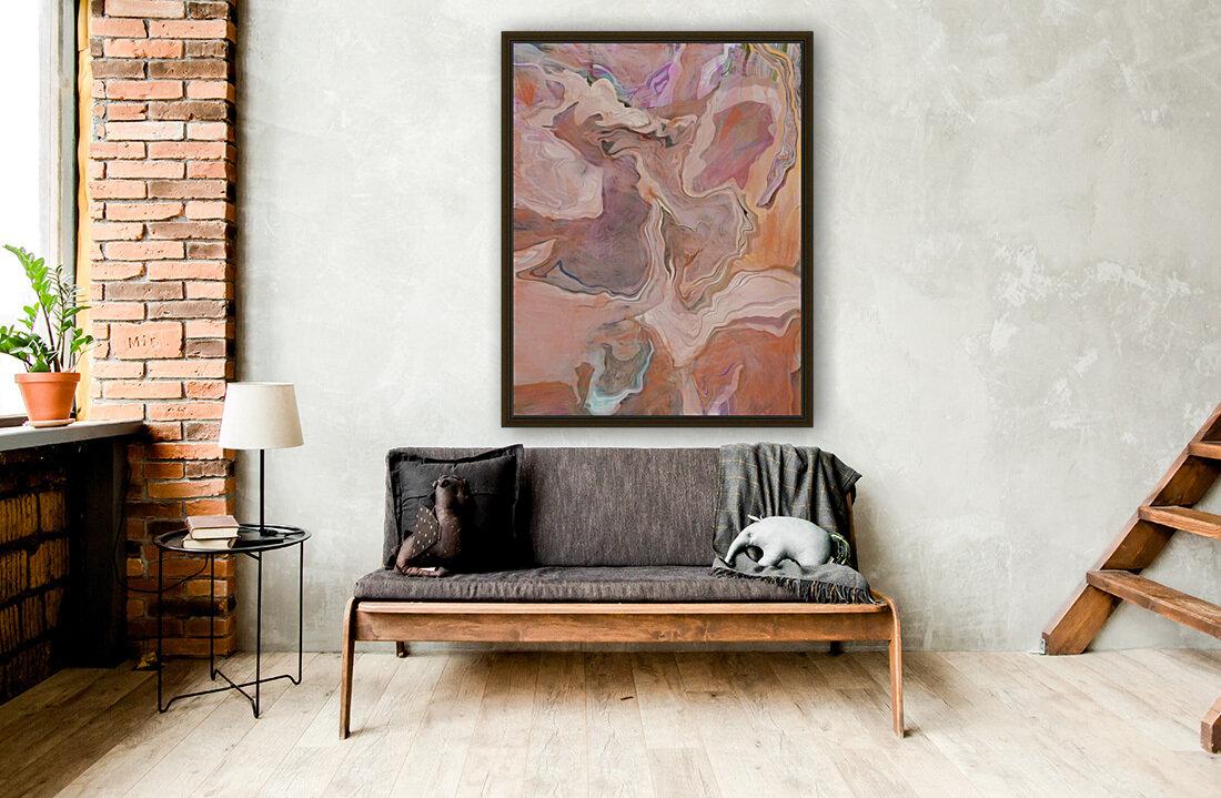 Patterns in Mauve and Orange  Art
