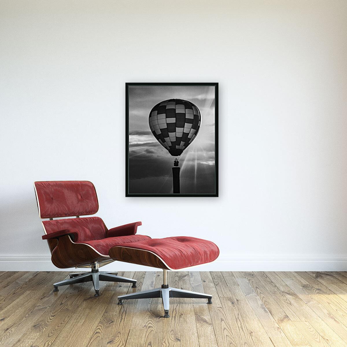 Hot Air Balloon On A Smokestack  Art