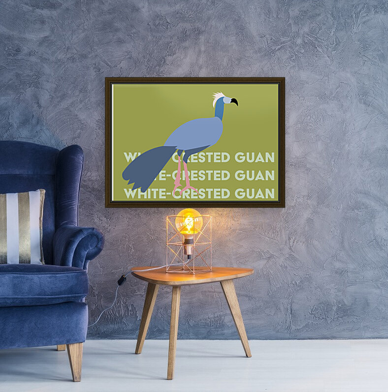 White-Crested Guan  Art
