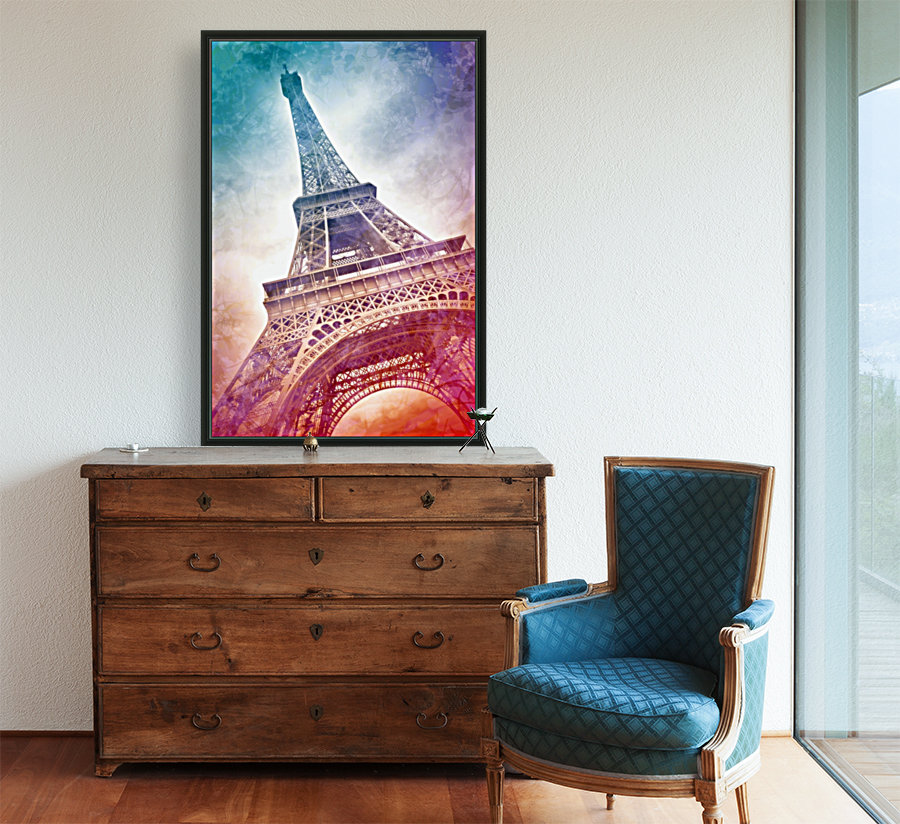 Modern-Art EIFFEL TOWER Print