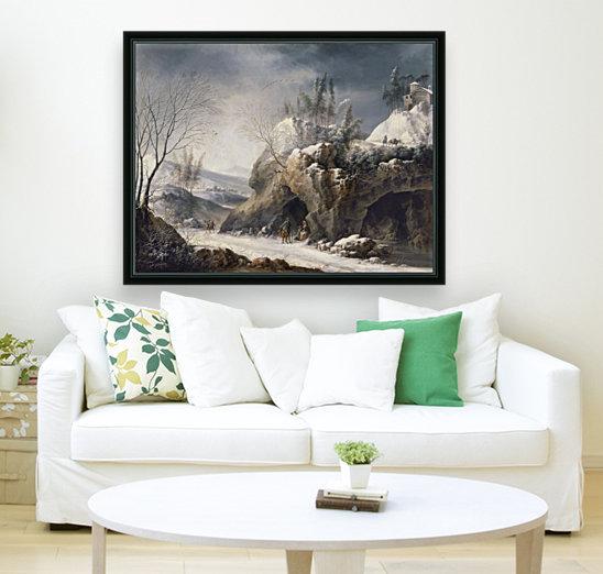 Paesaggio invernale con una famiglia di contadini  Art