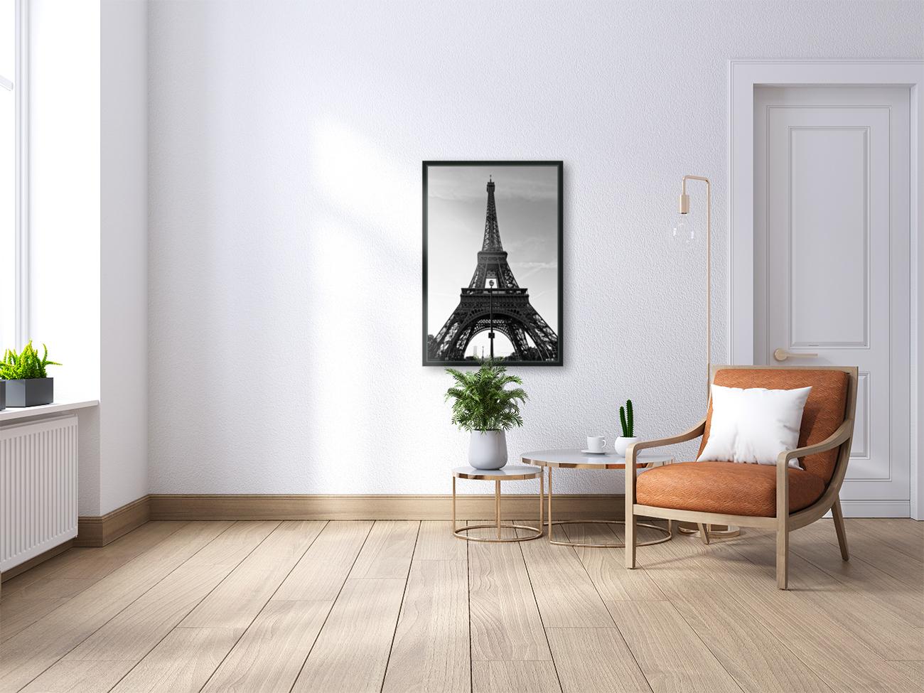 Eiffel tower in black   Art