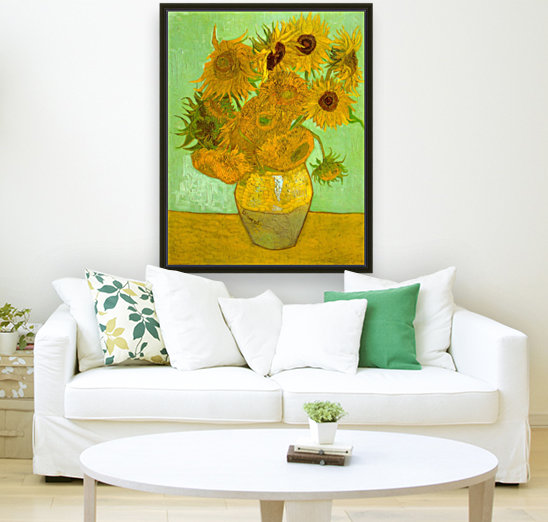 Twelve Sunflowers by Van Gogh  Art