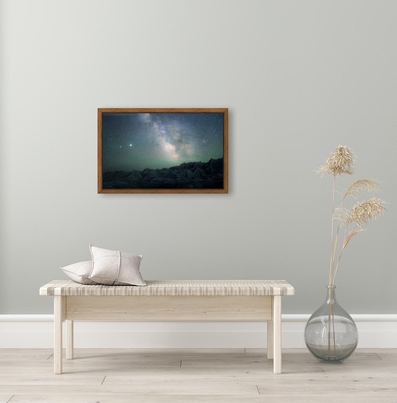 Milky Way Above The Badlands  Art
