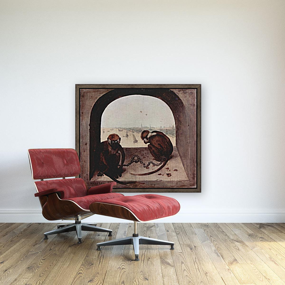 Two monkeys by Pieter Bruegel  Art