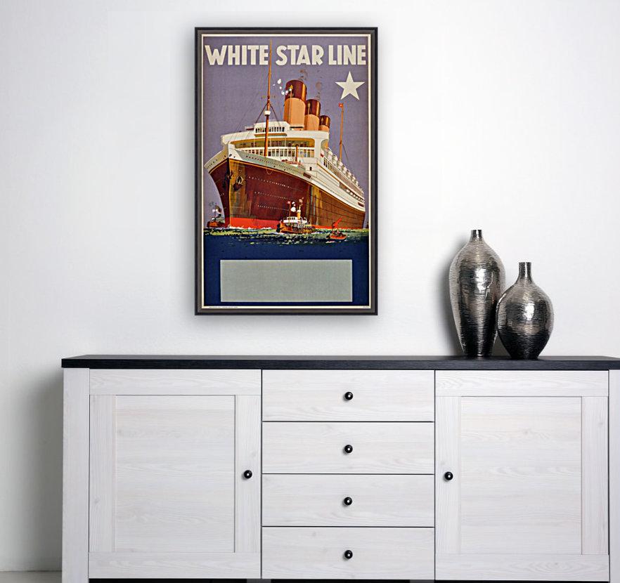 Original Vintage 1920 Travel Advertising Poster For White Star Line Cruises  Art