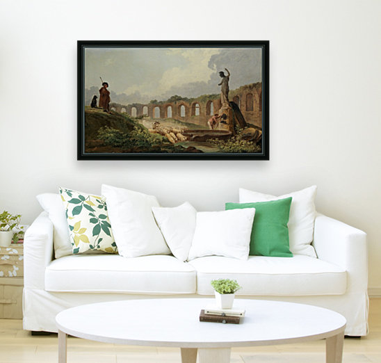 Aqueduct in Ruins with Floating Frame