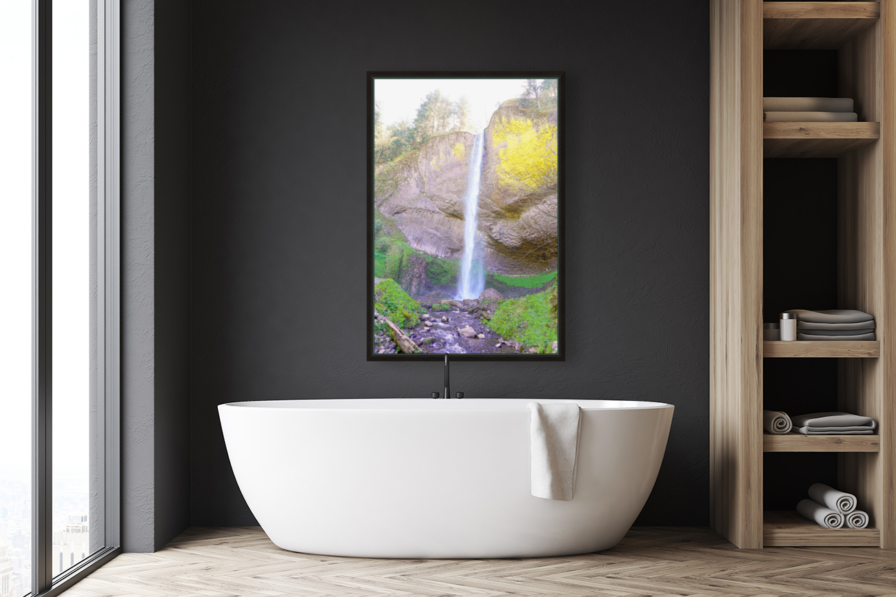 Majestic Falls in the Gorge   Columbia River Oregon  Art