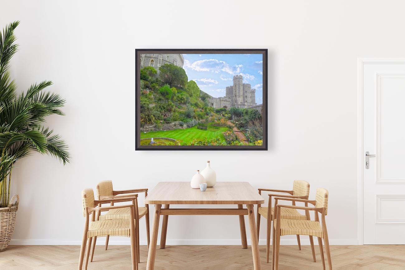 Windsor Castle Under Beautiful Blue Skies - Berkshire United Kingdom  Art