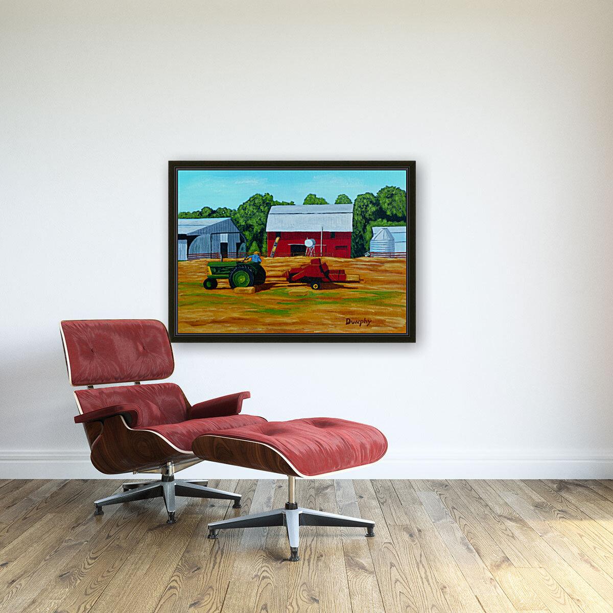 Bailing Hay  Art