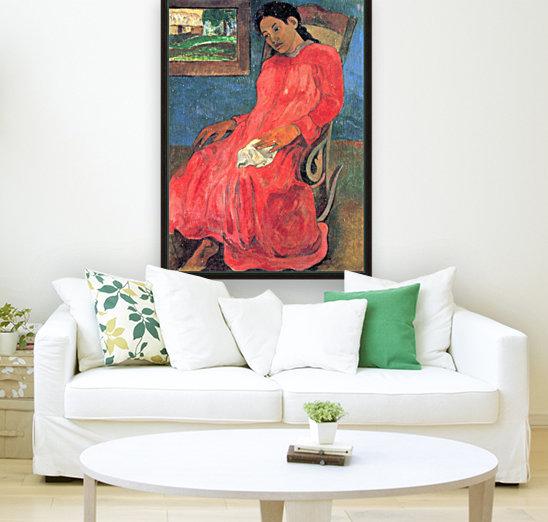 Woman in Red Dress by Gauguin  Art