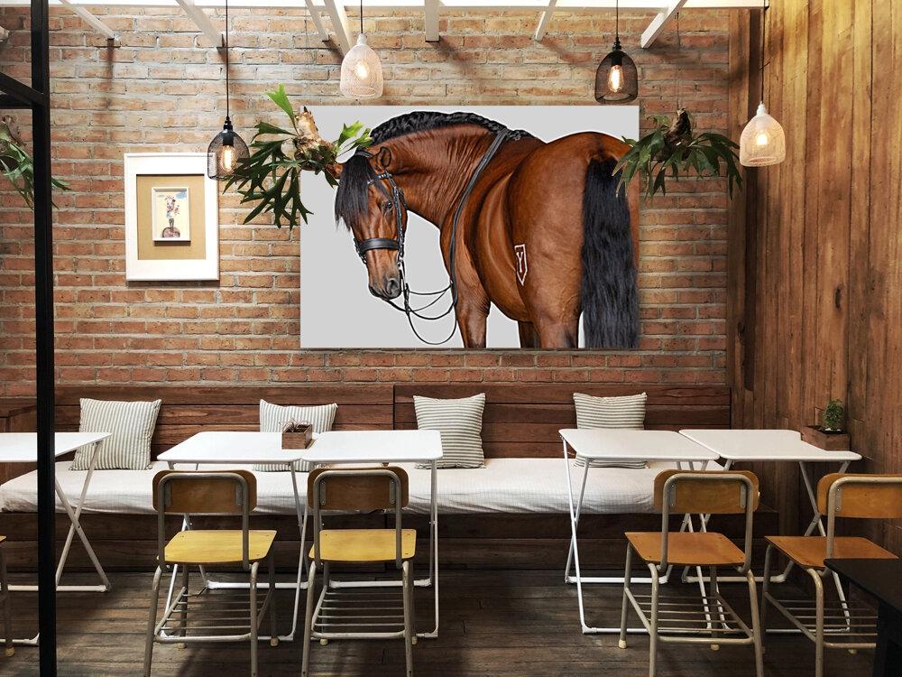 Bay Horse Portrait  Art