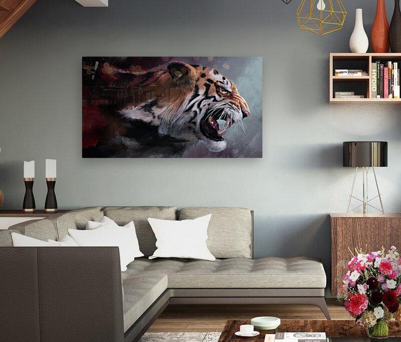 Lunging Tiger  Art