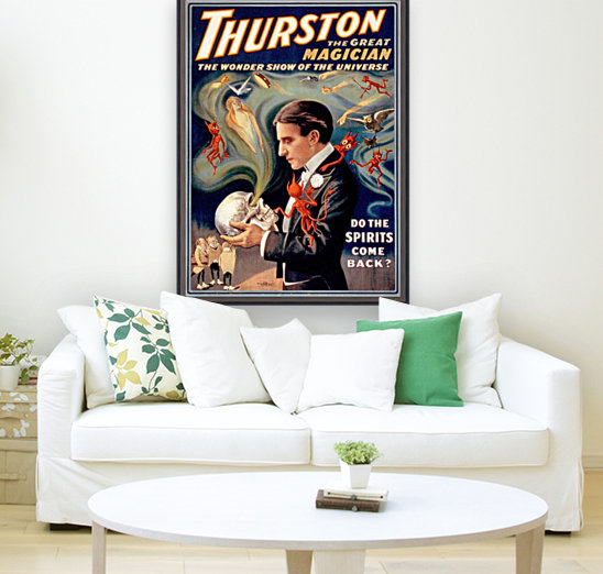 Thurston the Great Magician Vintage Poster with Floating Frame