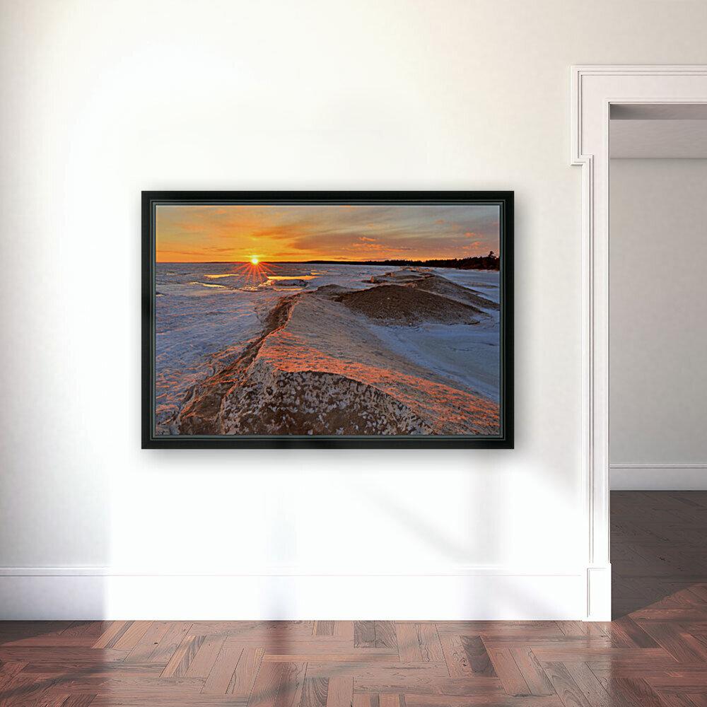 Icy Sunset  Naubinway Michigan  Art