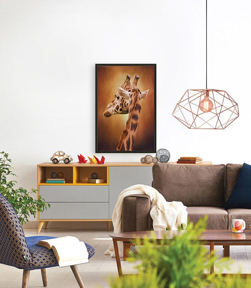 Rising Above - Giraffe Art  Art